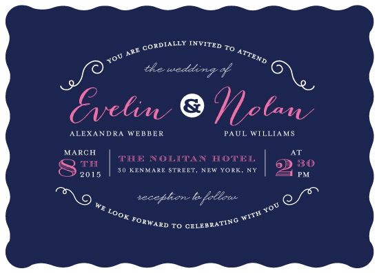 wedding invitations - Simple Swirls by Jana Volfova
