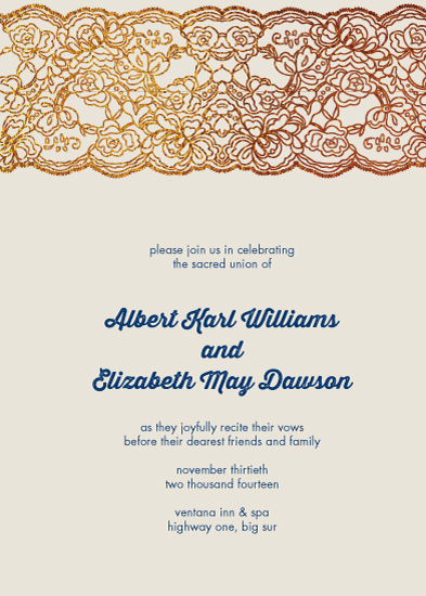 wedding invitations - LoveLace by Bronze Ghost