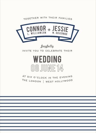 wedding invitations - Modern Banner by INKandIRON