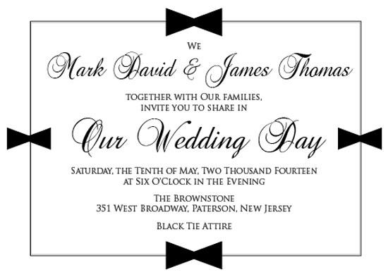 wedding invitations - A Black Tie Affair by Marlie Renee