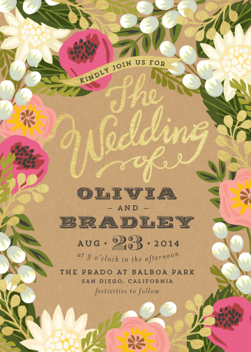 wedding invitations - Floral Canopy by Griffinbell Paper Co.