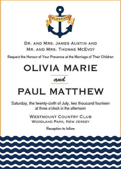 wedding invitations - Nautical Nuptials by Marlie Renee