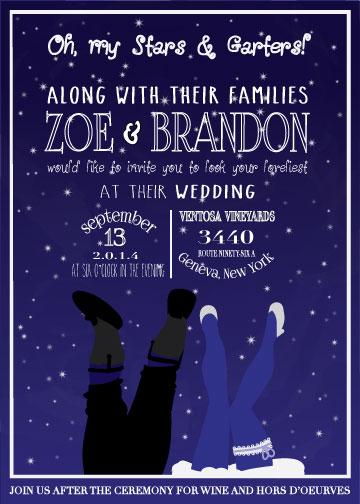 wedding invitations - Oh, my Stars and Garters! by T. Hidaka