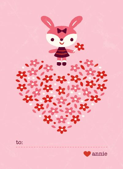 valentine's day - Bunny Garden by Bob Daly