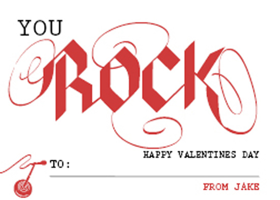 valentine's day - You Rock by Barbara Caruso