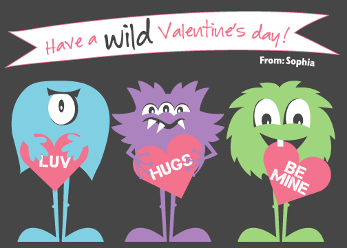 valentine's day - 3 Little Monsters by Jodi VanMetre
