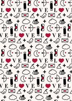 modern valentine icons