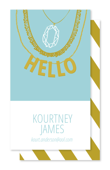 business cards - Hello Jewel by Vanessa Wyler