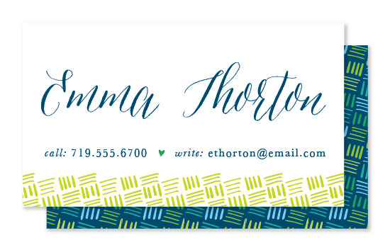 business cards - Calligraphy Girl by 2birdstone