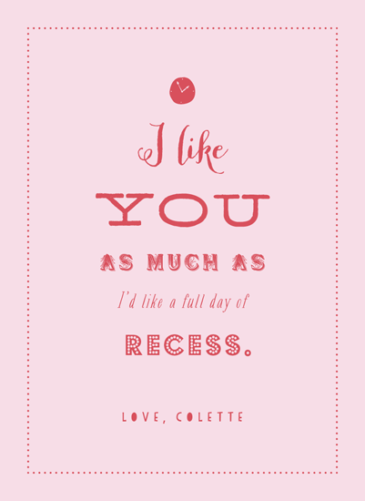 valentine's day - I Like Recess by Elysse Ricci