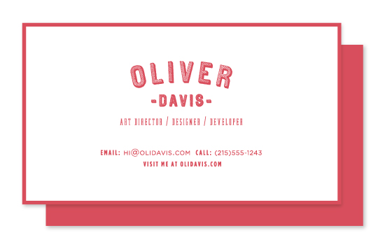 business cards - Modern Craft by Elysse Ricci