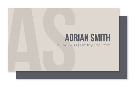 business cards - Bold and Formal by burpcreative