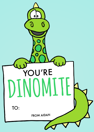 valentine's day - Dinomite by Morgan Newnham