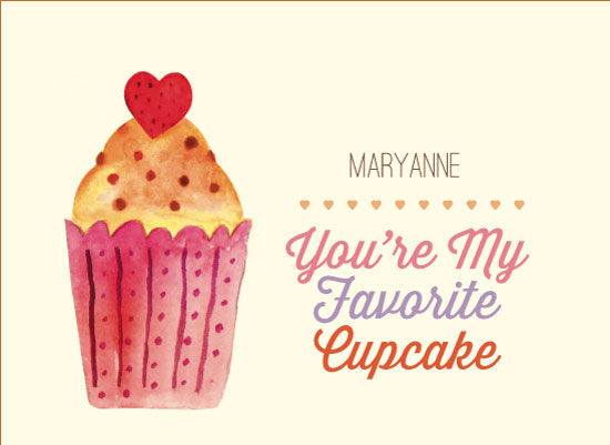 valentine's day - Favorite Cupcake by Sally-Ann Langley