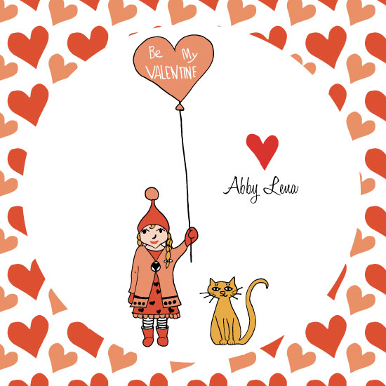valentine's day - Be My Valentine Balloon Heart by Melissa Nicholson
