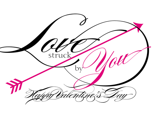 valentine's day - Love struck by You Arrow by Barbara Caruso