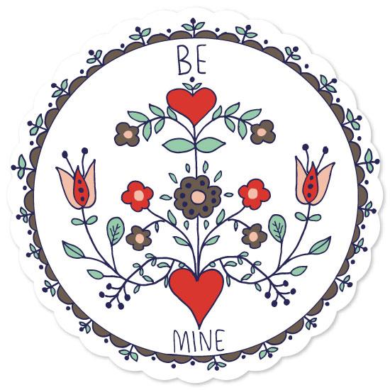valentine's day - Be Mine Botanical Love by Melissa Nicholson
