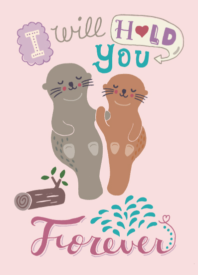 valentine's day - Otter Love by Anais Lee