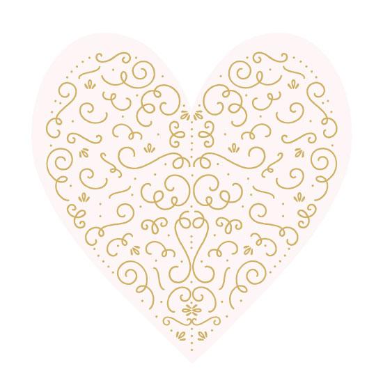 valentine's day - Art Deco Heart by Phrosne Ras
