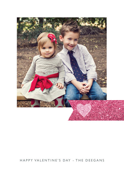 valentine's day - Sparkling Heart Tag by Erin Deegan