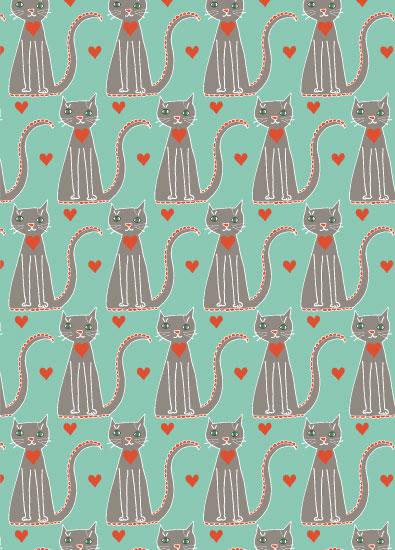 valentine's day - I Heart Kitties by Melissa Nicholson