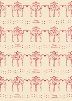 happy dotted camels gift wrap