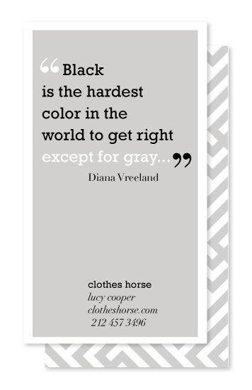 business cards - The Color Gray Quote Series 1 by That Girl Studio