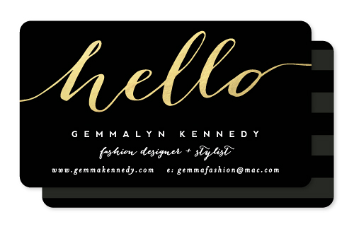 business cards - Chic Black and Gold by Hooray Creative