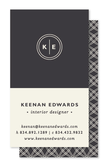 business cards - Monogram Circle by Olivia Raufman