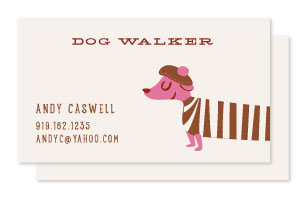 business cards - Happy Dog by Lori Wemple
