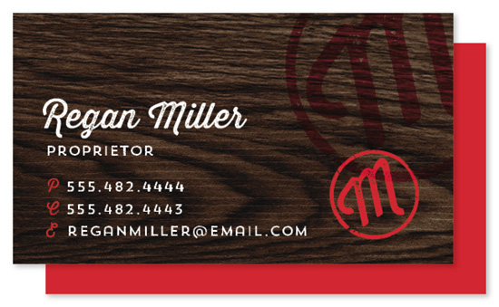 business cards - Stamped Monogram by Keen Peachy