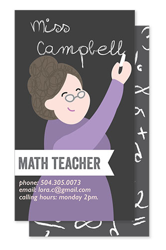 business cards - personalized teacher business card by Barbara Treszner
