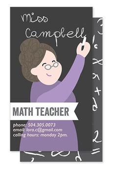 personalized teacher business card