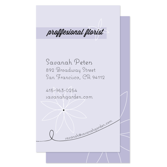business cards - Purple Flower by Joel