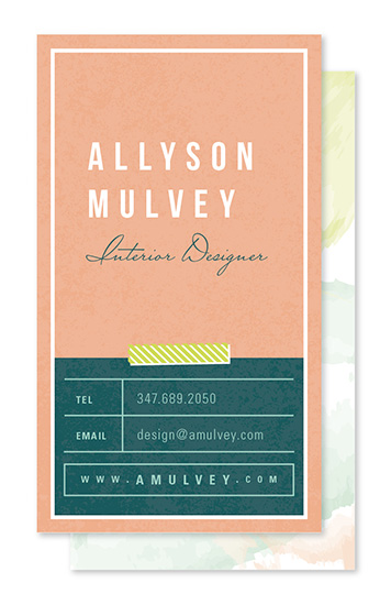 business cards - Blush Design by Melanie Pavao