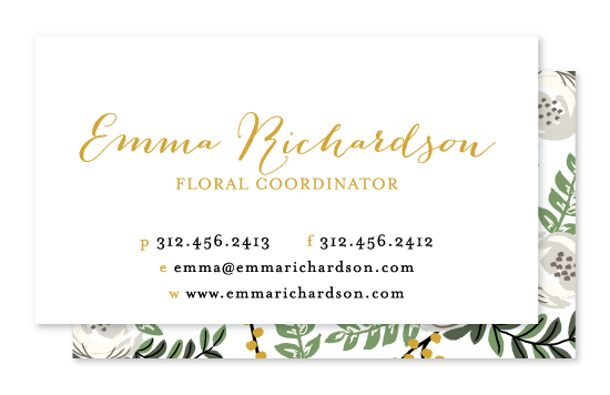 business cards - Painted Florist by Lehan Veenker