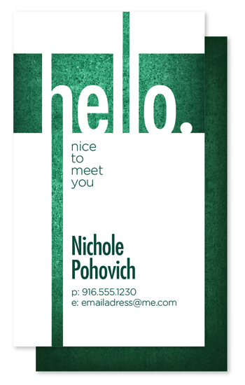 business cards - Hello to you by Kayla Pohovich