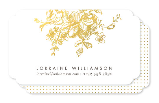 business cards - Gold Sketched by Phrosne Ras