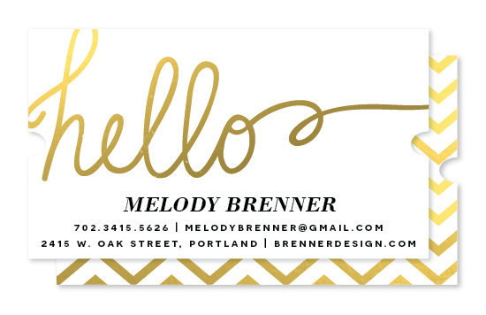 business cards - Gilded Hello by Wendy Van Ryn
