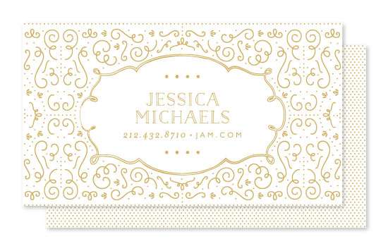 business cards - Glamorous Deco by Phrosne Ras