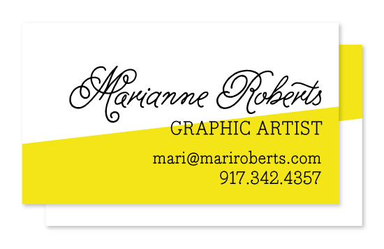 business cards - Modern Art by South City Press