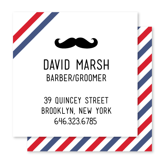 business cards - Barbershop by South City Press
