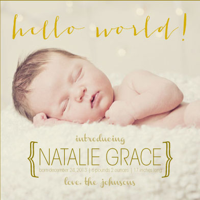 birth announcements - Hello World! by Sarah Elizabeth