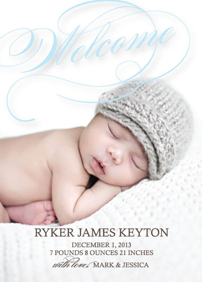 birth announcements - Welcome Sweet One by Finch Paperie