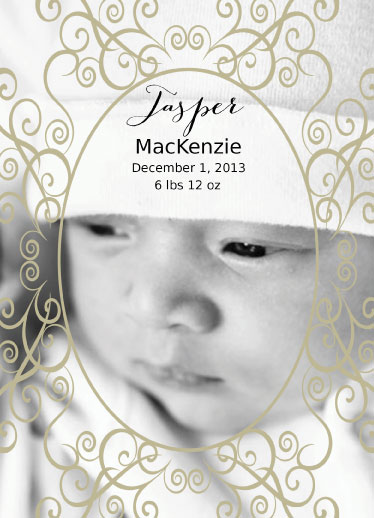 birth announcements - Adorn by Cindy Jost