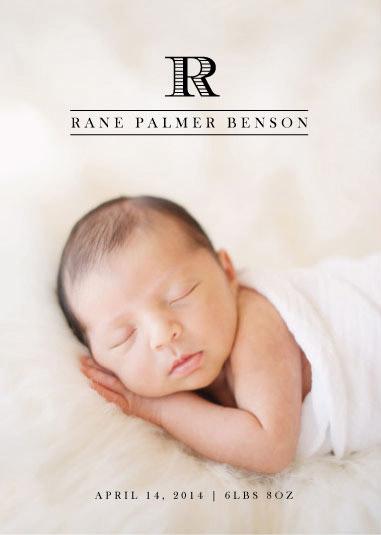birth announcements - Mini Monogram by Ashley Ottinger