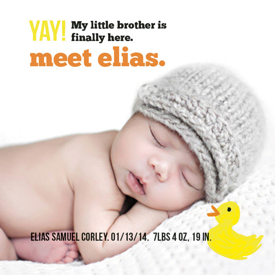 birth announcements - Just Ducky by Audrey Hoffman