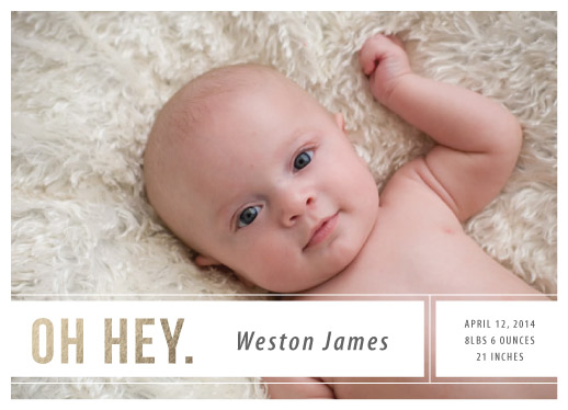 birth announcements - Oh Hey by Heather Eikel