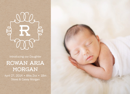 birth announcements - Krafted with Love by Stephanie Budd Design