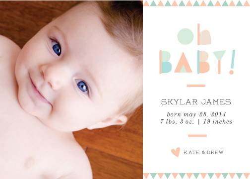 birth announcements - Geometric Shapes by designedbyjaclyn